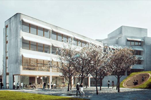 Skisse for mulig fremtidig fasadeuttrykk fasade