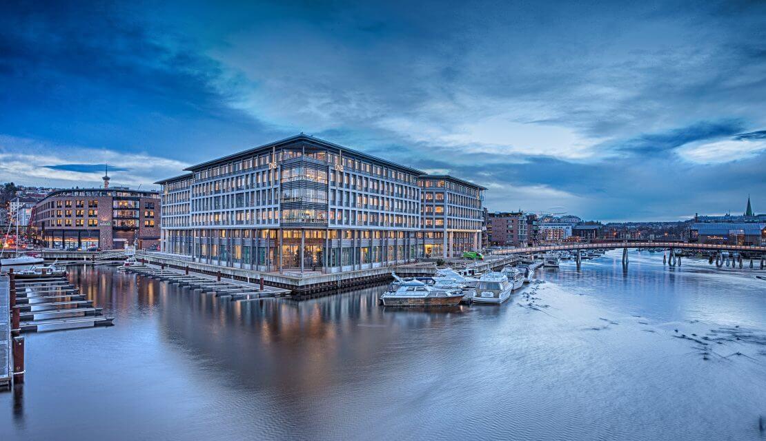 Fulle hus i Trondheim Sentrum
